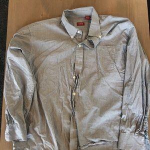 Izod Shirts - Navy blue button down shirt.